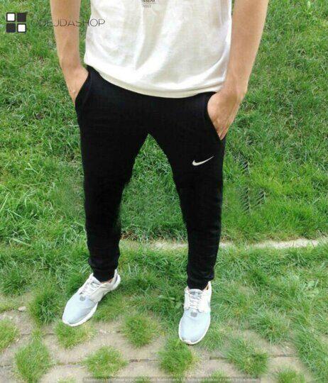 0968265e Мужские спортивные зауженные брюки черные купить оптом